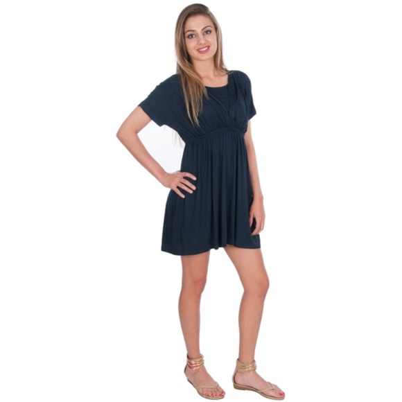 b1737932c4e34 My Bella Mama Dresses | Maternity Nursing Tunic Top Dress Navy Color ...